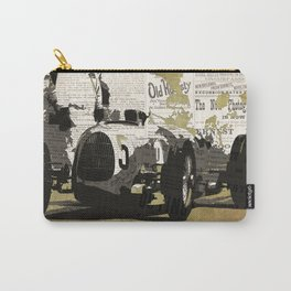 Race car number five, newspaper art collage, Gift For Dad, Gift For Him Carry-All Pouch