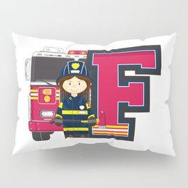 F is for Fireman Pillow Sham