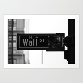 Wall St. Minimal - NYC Art Print