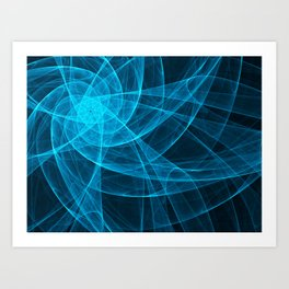 Tulles Star Computer Art in Blue Art Print