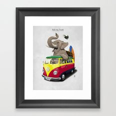 Pack the Trunk Framed Art Print