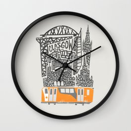 Glasgow Cityscape Wall Clock