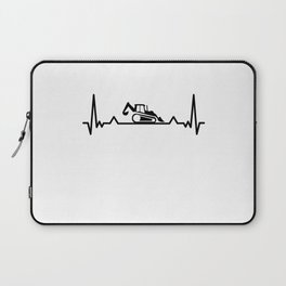 Backhoe Heartbeat excavator and Digger Gifts Laptop Sleeve