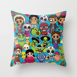 Latinx Pop Culture Throw Pillow