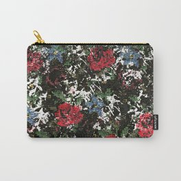 Stitched Roses Carry-All Pouch