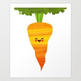Happy Carrot Art Print
