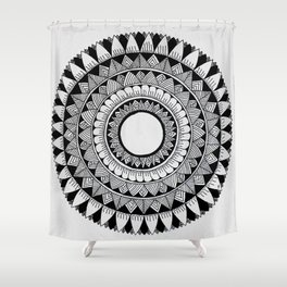 A4 Mandala 5 Shower Curtain