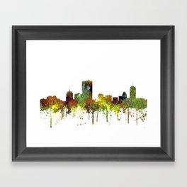 Boston, Massachusetts Skyline SG Safari Buff Framed Art Print