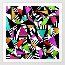 Geometric Multicolored Art Print