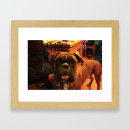 Acoustic Typography: Hypher Productivism [DOG] Framed Art Print