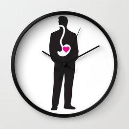 Man's heart Wall Clock