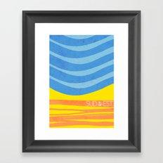 Sea - Sud/Est Framed Art Print