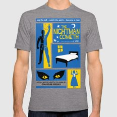 The Nightman Cometh Mens Fitted Tee Tri-Grey LARGE
