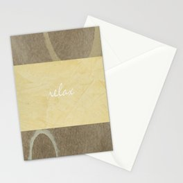 Relax Modern Art w/ Signature Stationery Cards