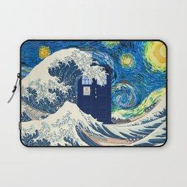tardis wave starry night Laptop Sleeve