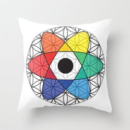 Flower of Science Throw Pillow
