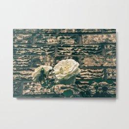 The moody garden flowers Metal Print