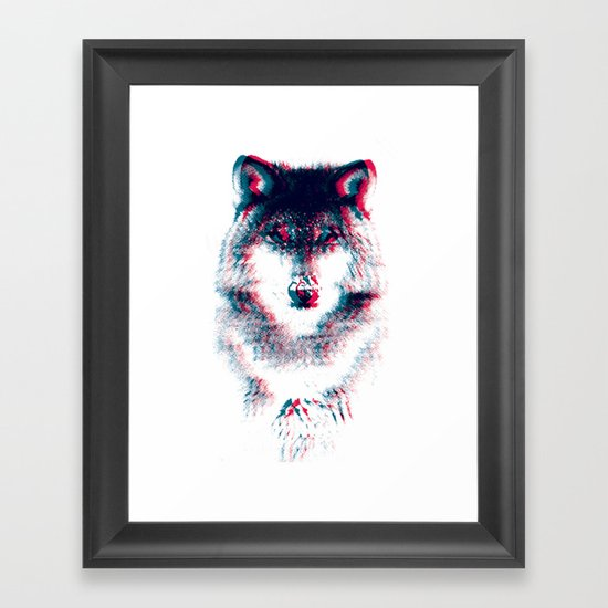 Act like a wolf. Framed Art Print