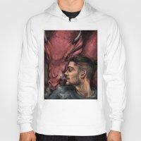 cyrilliart Hoodies featuring Dragon Series: Zayn by Cyrilliart