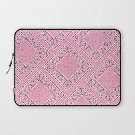 Pink Bandana Diamond Patches  Laptop Sleeve