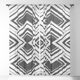Black And White Art Deco Squares Sheer Curtain