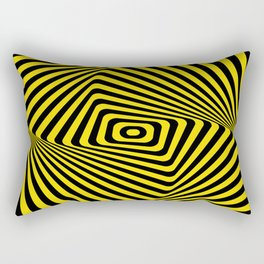 Op-Art Spiral - Gold Rectangular Pillow