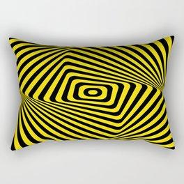 Op-Art Spiral - Gold Rectangular Pillow