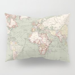 Vintage Map of The World (1915) Pillow Sham