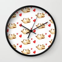 kitten Wall Clocks featuring Kitten by Erica_art