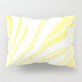 Yellow Marble Ink Watercolor Pillow Sham