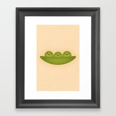 Peas Framed Art Print