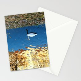 Reflector Swan I - Inverse Stationery Cards