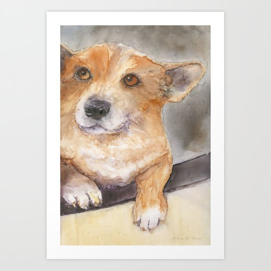 We aren't going to the vet, are we?? Art Print