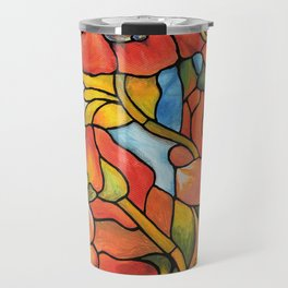 Red Poppy Lamp Travel Mug