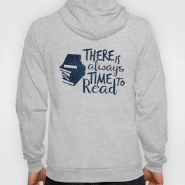 There is Always Time to Read | Blue + Gold Hoody