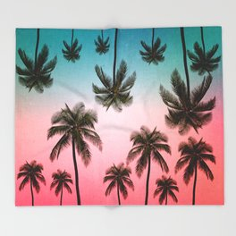 palm tree Throw Blanket