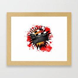 Christmas Clapperboard Framed Art Print