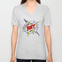 BUTT - Pop Art Style Unisex V-Neck