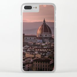Florence, Italy Cityscape Clear iPhone Case