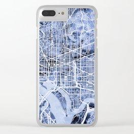 Washington DC Street Map Clear iPhone Case