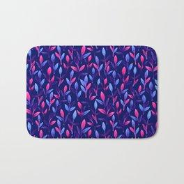 Pink & violet Simple cute floral Bath Mat