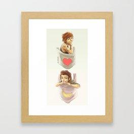 Pocket Larry Framed Art Print