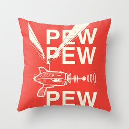 Pew Pew Pew Throw Pillow
