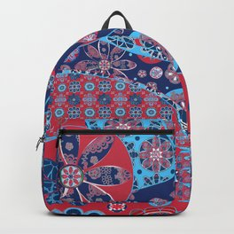 Dhalia Red and Blue Backpack