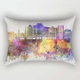 Fresno skyline in watercolor background Rectangular Pillow