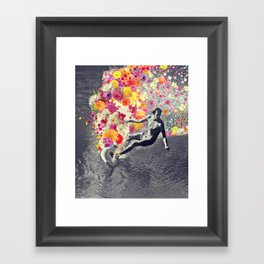 Flower surfing Framed Art Print