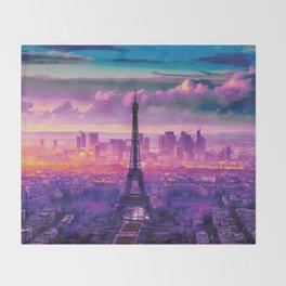 Beautiful Paris Throw Blanket