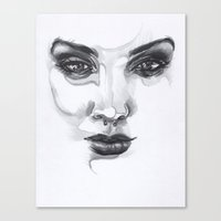 emily rickard Canvas Prints featuring Emily by Paul4AllSeasons