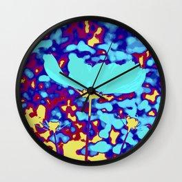magic flower splash Wall Clock