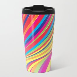 Crazy Fantasy Colorful Stripes Travel Mug
